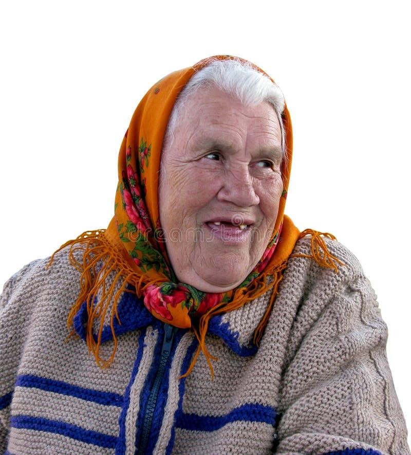 祖母老纵向 库存照片