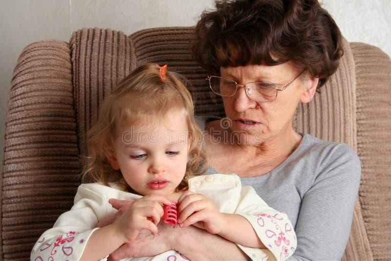 祖母 库存照片