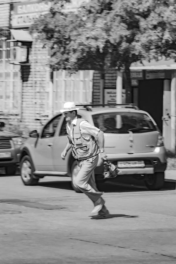 祖父去方式 图库摄影
