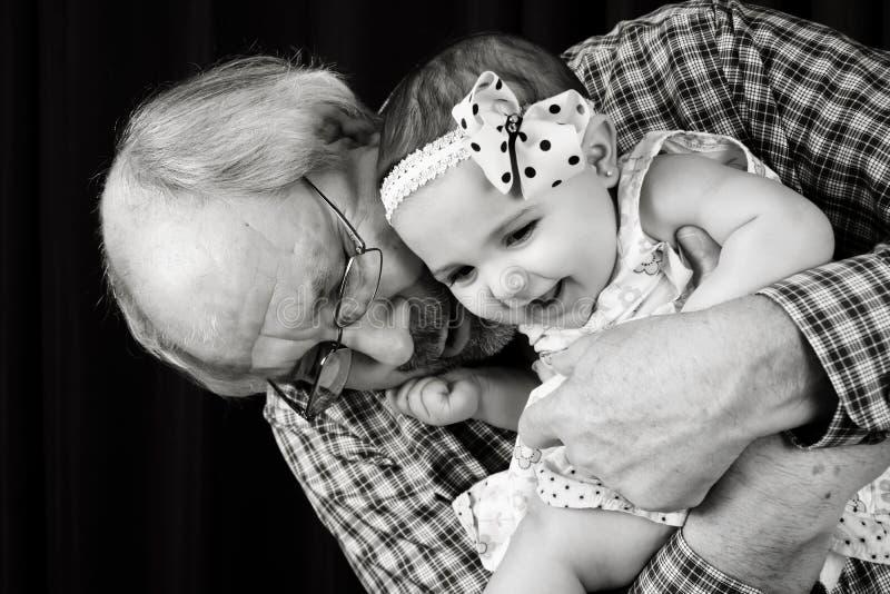 祖父和孙女 库存照片
