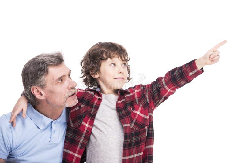 祖父和孙子 免版税库存照片