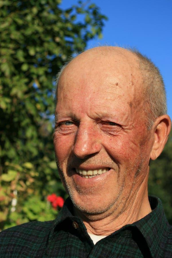 祖父微笑 免版税图库摄影