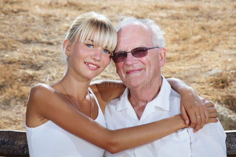 祖父我我 库存图片