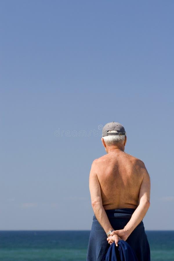 祖父领退休金者前辈 免版税库存图片