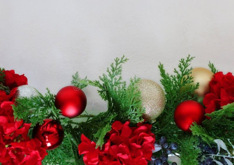 祝愿卡片设定的圣诞节 库存照片