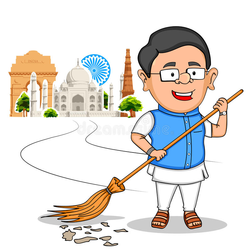 祝愿印度的愉快的美国独立日的印地安人民 皇族释放例证