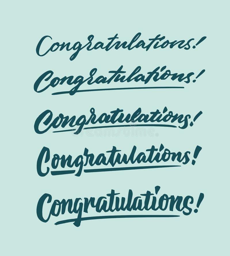 祝贺葡萄酒手字法印刷术词组资源 库存图片