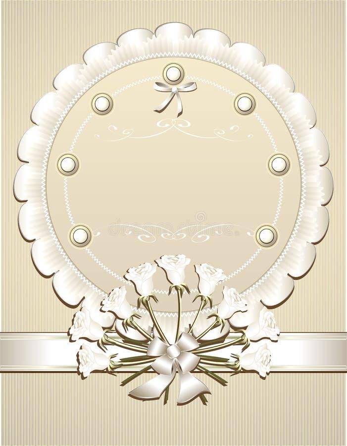 祝贺邀请r婚礼白色 向量例证