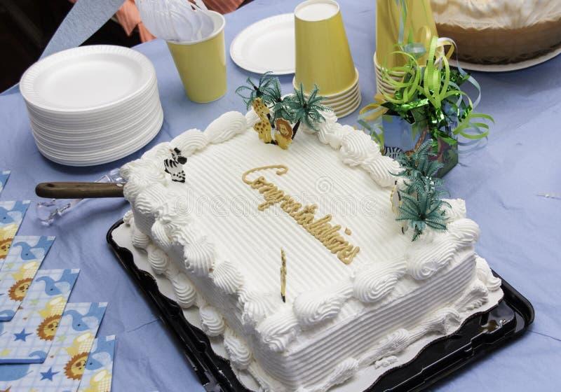 祝贺蛋糕 库存图片