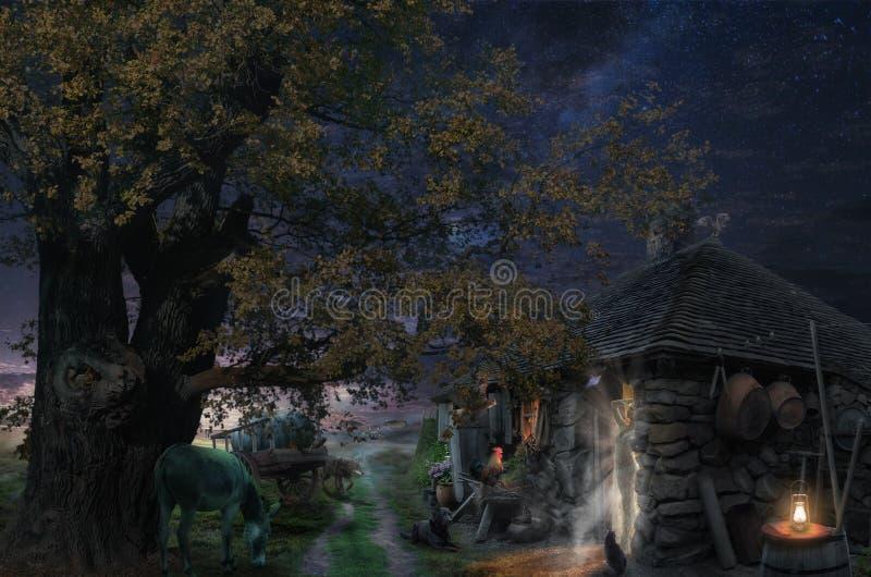 神仙的夜 库存照片
