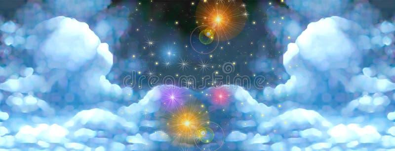 神仙的天空传说 库存例证