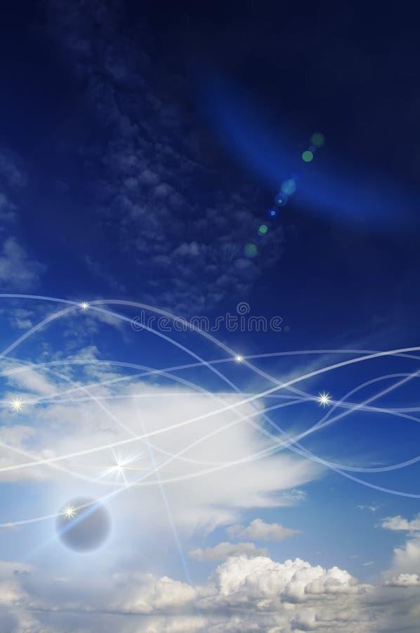 神仙的天空 库存图片