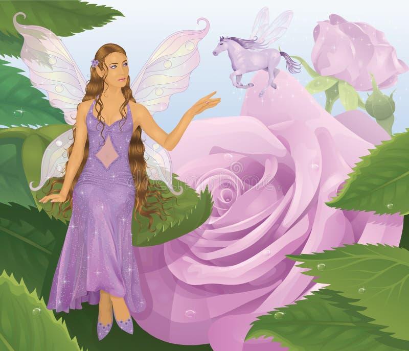 神仙的紫罗兰 库存例证