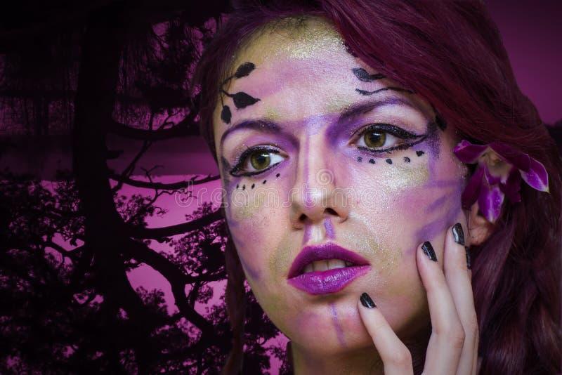 神仙的紫色 免版税库存照片