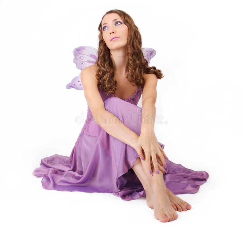 神仙的紫色 库存照片