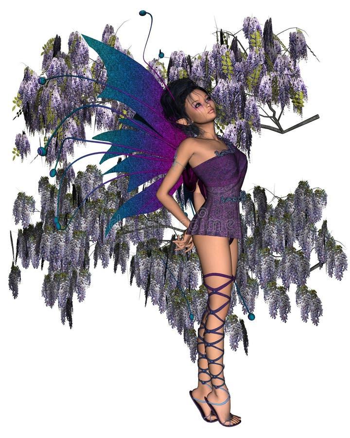神仙的紫藤 库存例证