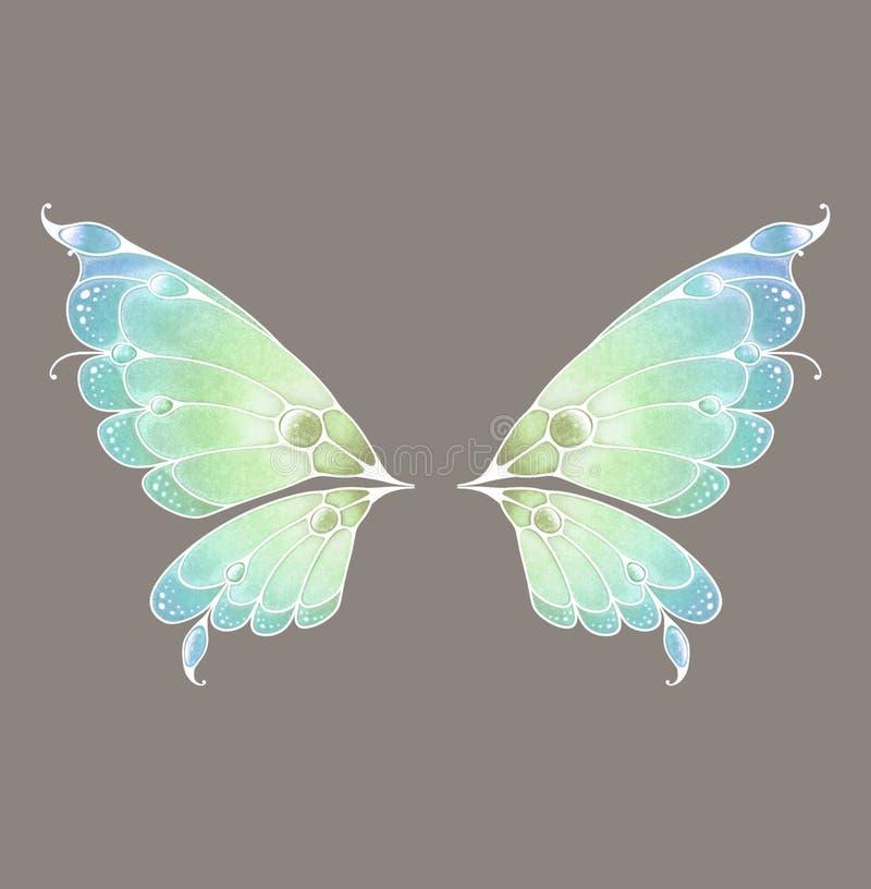 神仙的翼 向量例证