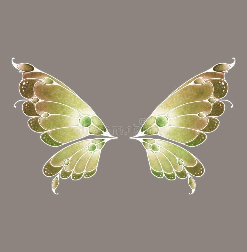 神仙的翼 库存例证