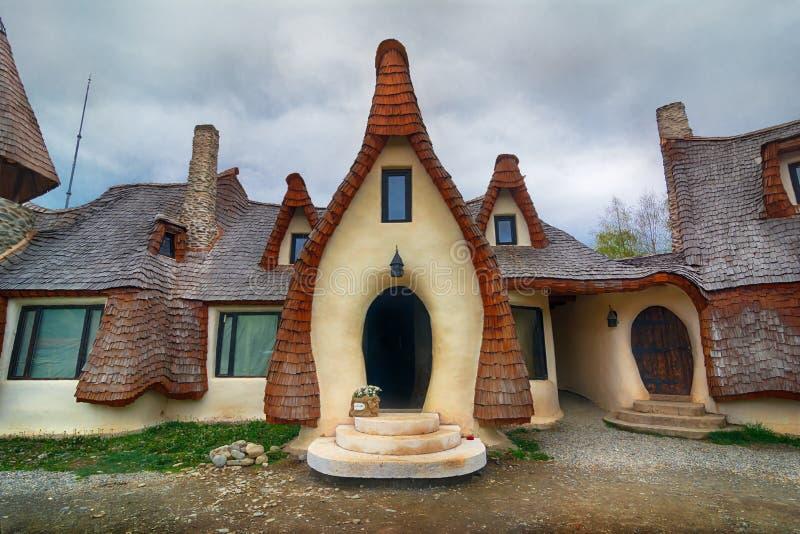 神仙的谷的黏土城堡的议院 库存图片