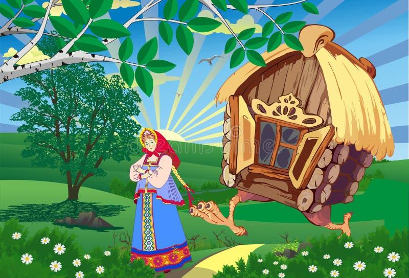 神仙的风景这公主和小屋在鸡腿 皇族释放例证