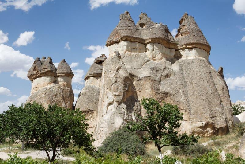 神仙cappadocia的烟囱 库存图片
