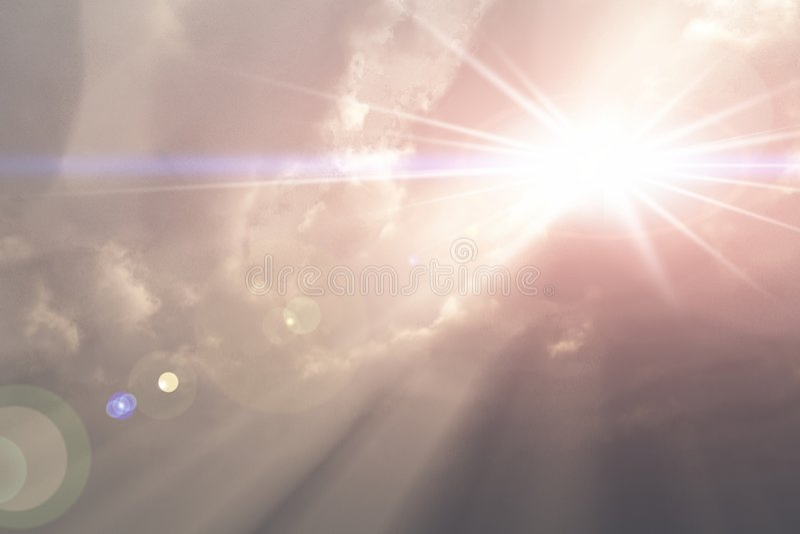 神光芒 向量例证
