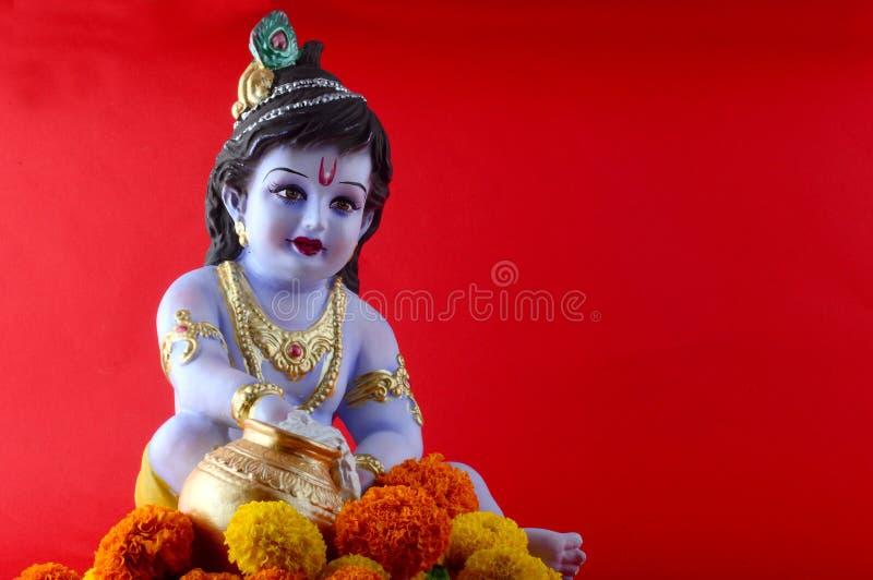 神印度krishna 免版税库存照片