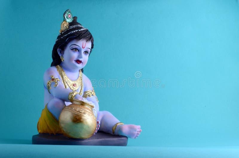 神印度krishna 免版税库存图片