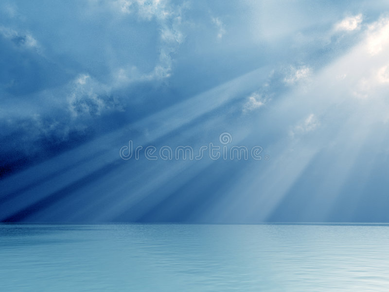神发出光线美妙 库存图片