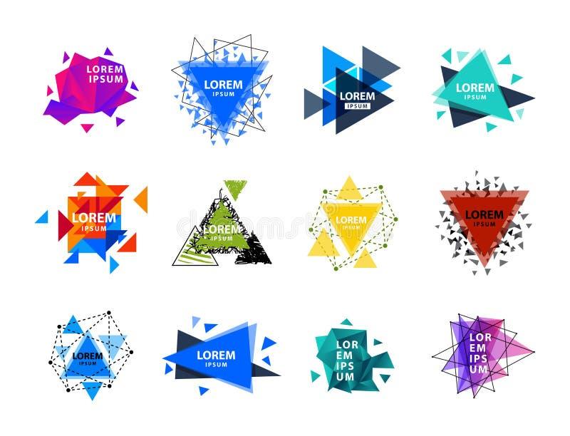 神圣的几何三角摘要商标计算元素神秘的多角形创造性的triangulum传染媒介例证 向量例证