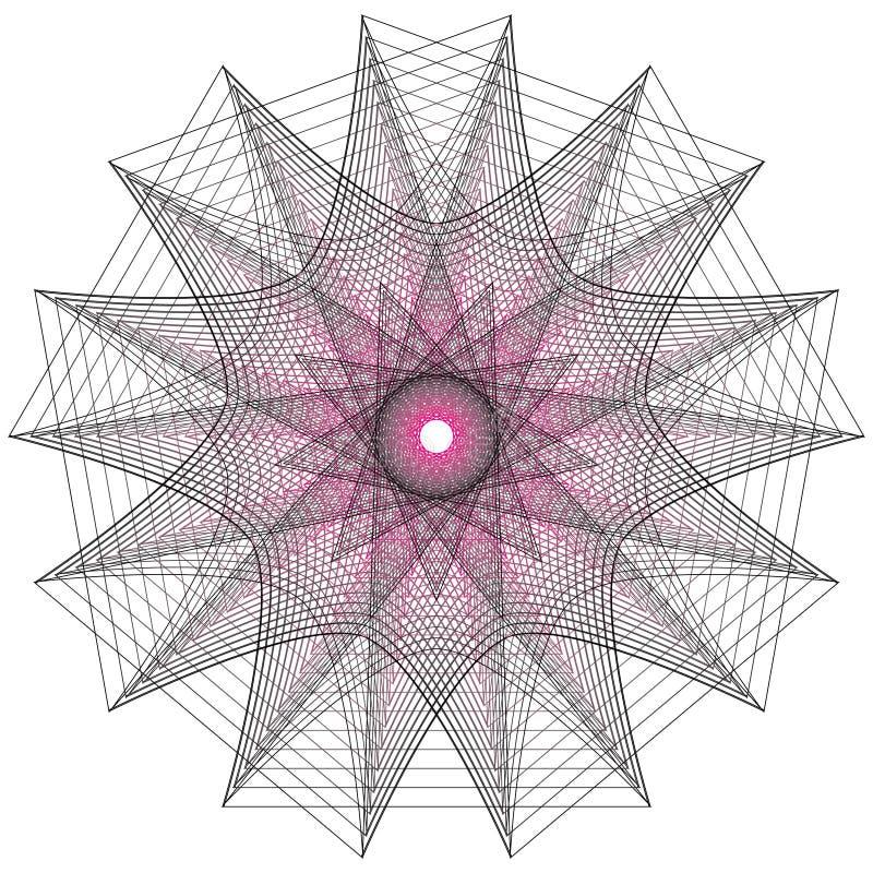 神圣的几何标志 套标志和元素 方术,宗教,哲学 库存例证