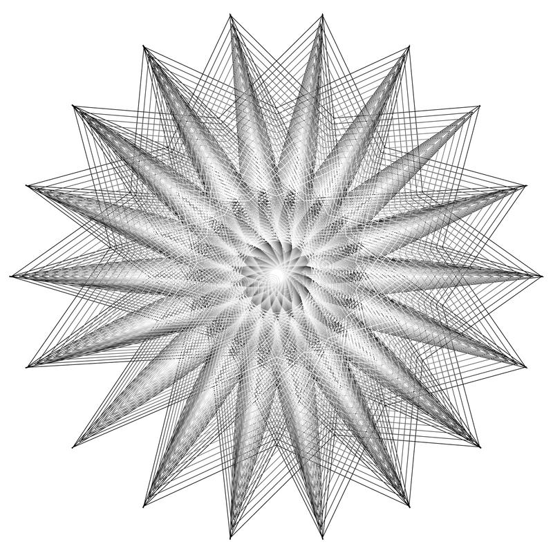 神圣的几何标志 套标志和元素 方术,宗教,哲学 皇族释放例证