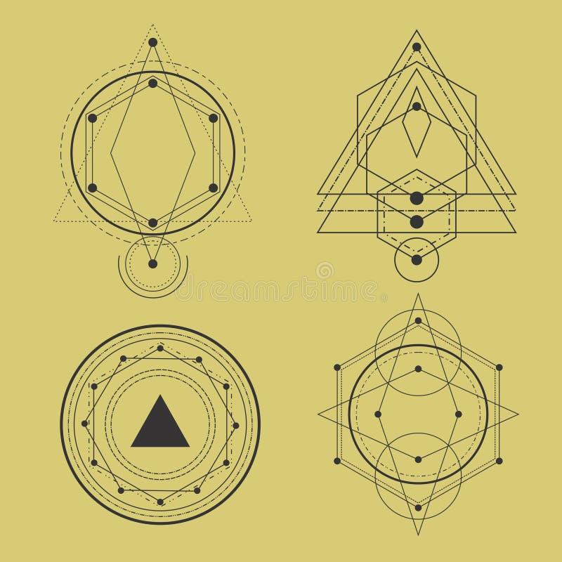 神圣的几何组装 向量例证