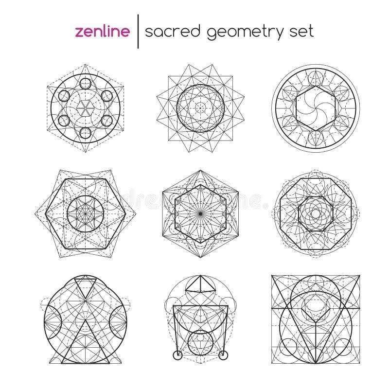 神圣的几何集合 库存例证