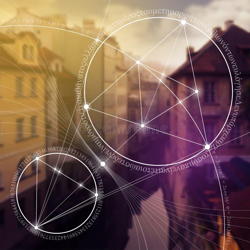神圣的几何 数学、自然和灵性本质上 自然惯例  免版税库存照片