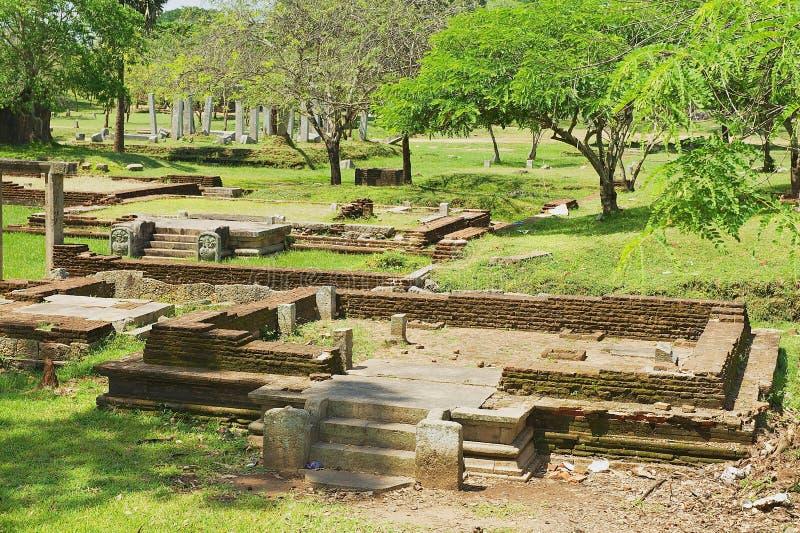 神圣的城市的废墟的看法在阿努拉德普勒,斯里兰卡 库存图片