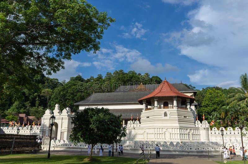 神圣的牙遗物的寺庙,康提,斯里兰卡, 库存图片