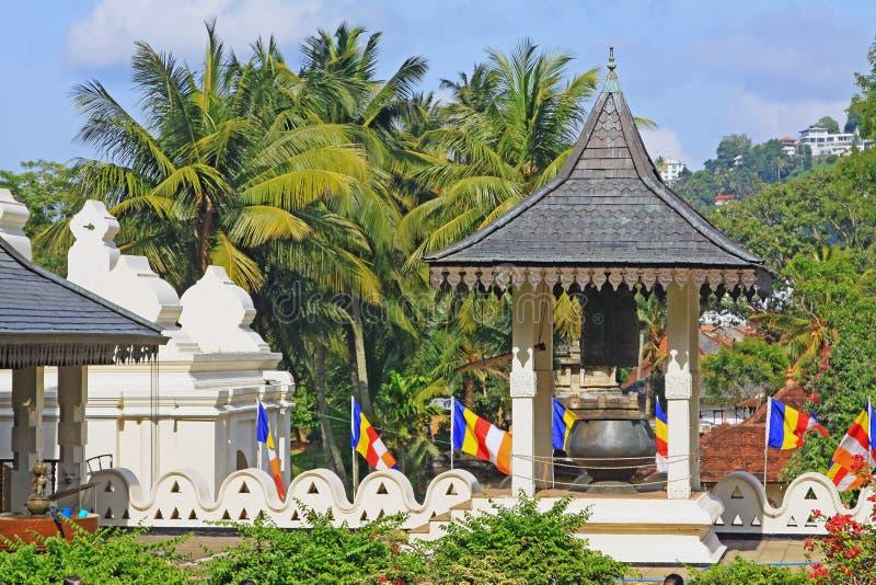 神圣的牙遗物的寺庙,康提,斯里兰卡 免版税图库摄影