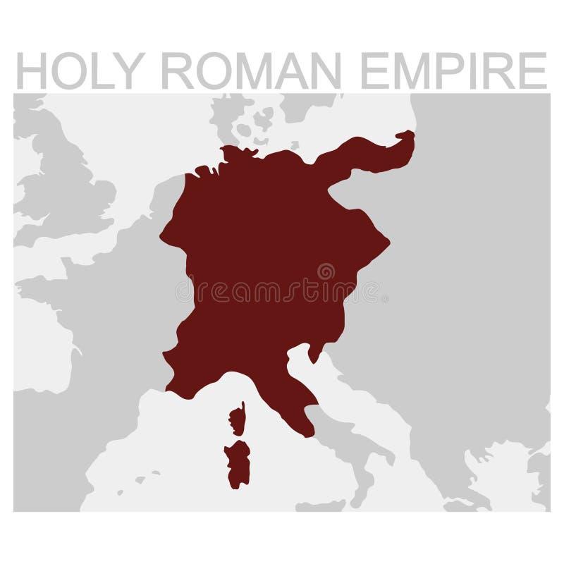 神圣罗马帝国的地图 皇族释放例证