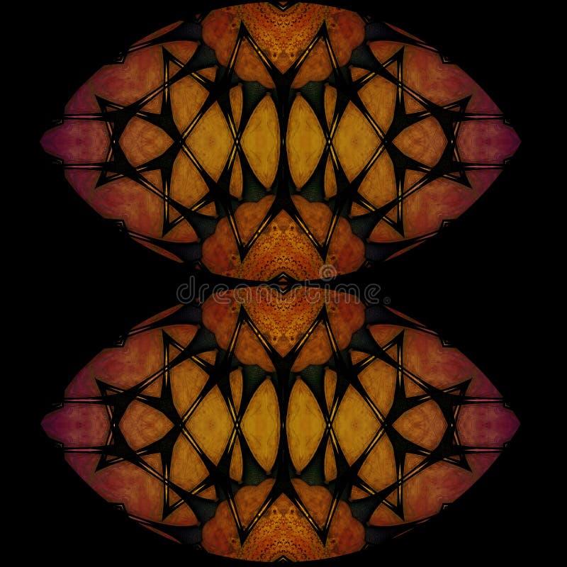 神奇亚洲灯笼数字式艺术设计  皇族释放例证