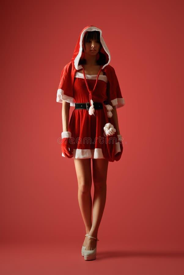 神奇圣诞节的女孩 免版税库存照片