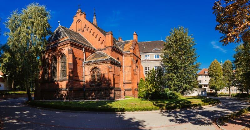 神学教职员教堂在波兹南,波兰 免版税库存图片