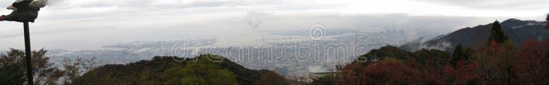 神户俯视图从Mt的 Rokko,神户,日本 免版税库存图片