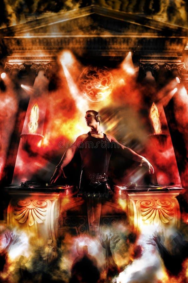 神是DJs 库存图片
