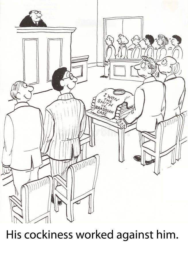 神气活现的律师 向量例证