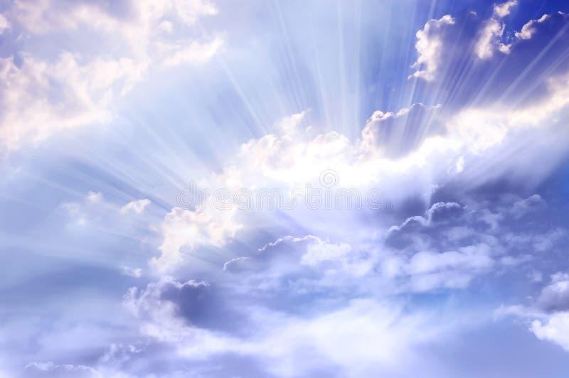 神的光 免版税库存图片