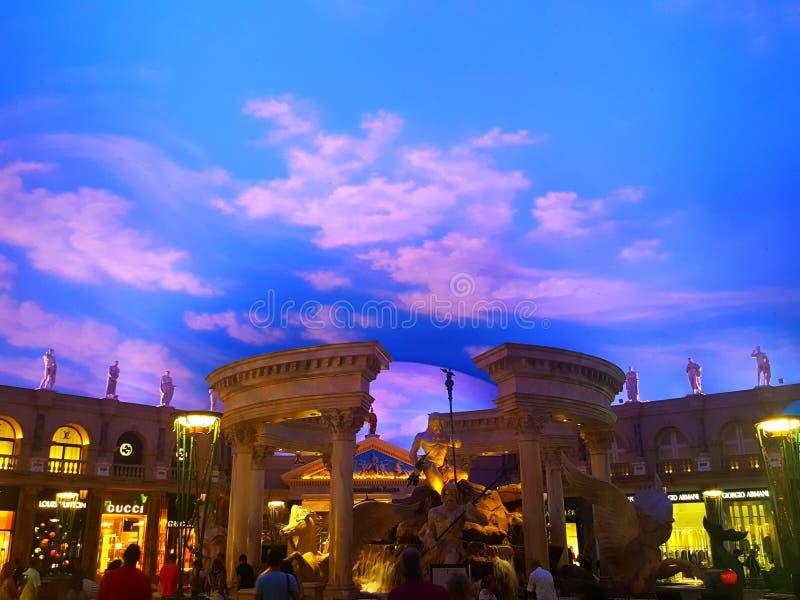 神的喷泉凯撒` s宫殿的 图库摄影