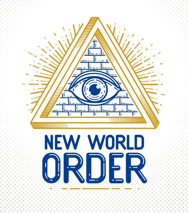 神的所有看见的眼睛神圣的几何的 皇族释放例证