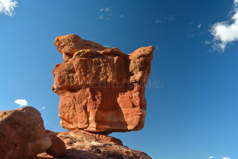 神科罗拉多泉的平衡的假山花园 免版税图库摄影