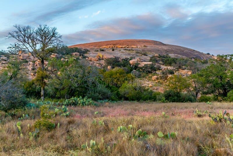 被迷惑的岩石在得克萨斯。 免版税图库摄影